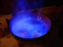 blue flame means ready to drink