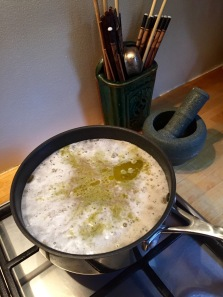 beginning rapid boil