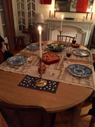 informal dinner for 4