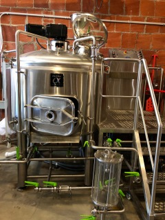 brew kettle where hops added