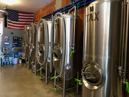 fermentation tanks plus one brite tank