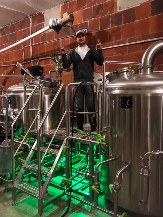 kyle on brew day
